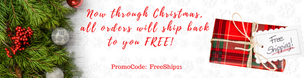 Christmas Orders are now shipping FREE! (1350 x 350 px)